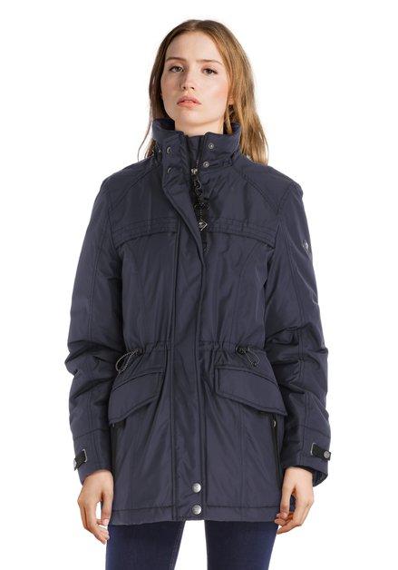Manteau bleu imperméable et coupe-vent