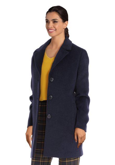 Manteau bleu marine à col revers