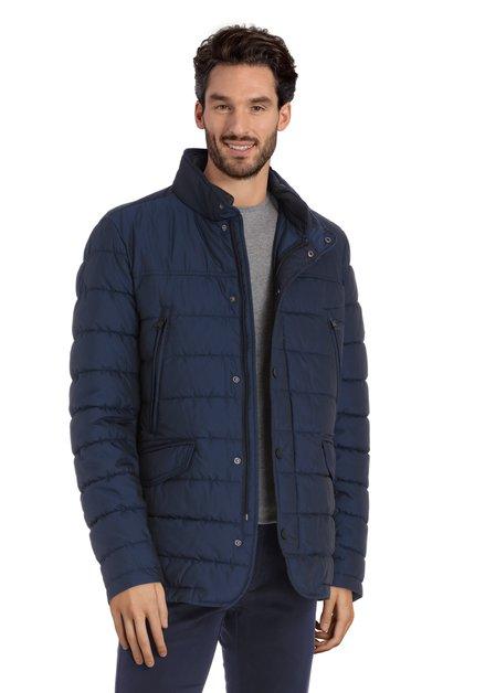 Manteau bleu marine avec mini imprimé