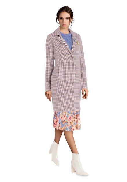 Manteau bleu poudre à carreaux