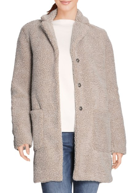 Manteau brun clair en teddy
