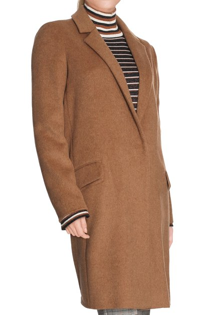 Manteau brun sable