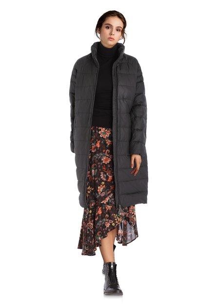 Manteau doudoune anthracite avec capuche