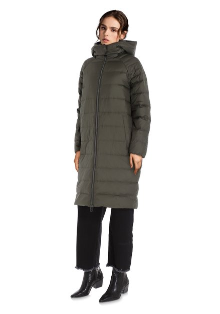 Manteau doudoune kaki avec capuche amovible
