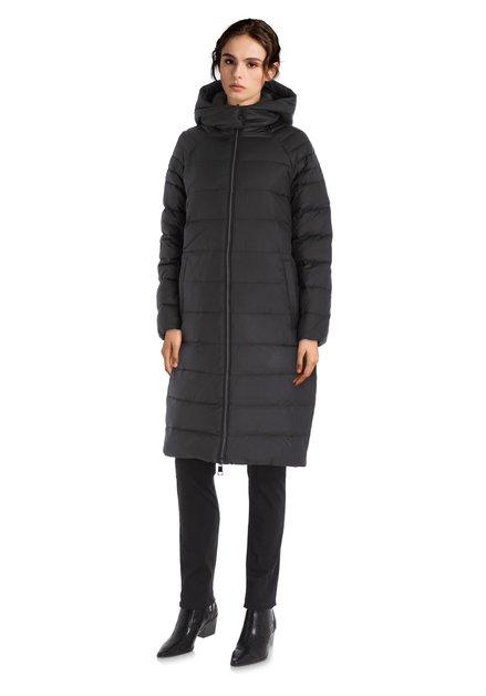 Manteau doudoune noir avec capuche