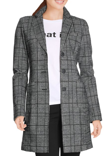 Manteau gris à carreaux