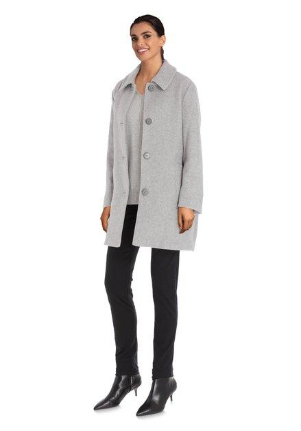 Manteau gris clair avec col revers
