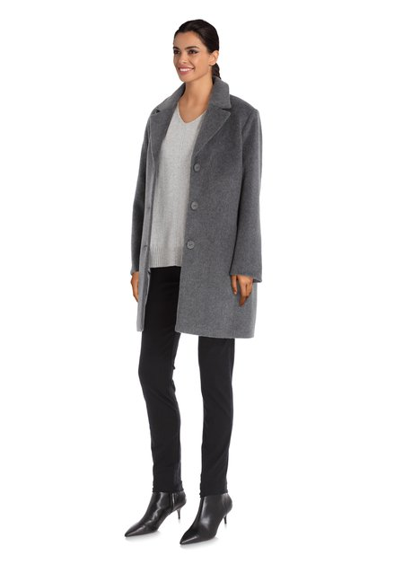 Manteau gris foncé avec col revers