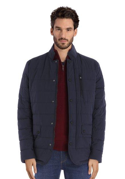 Manteau matelassé bleu marine