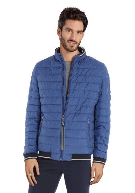 Manteau matelassé bleu moyen