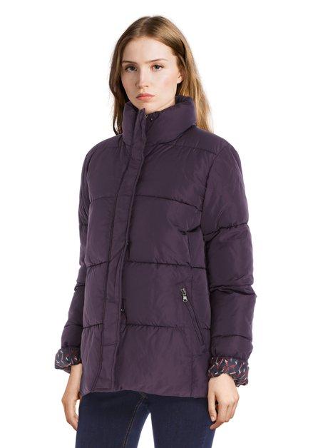 Manteau matelassé mauve
