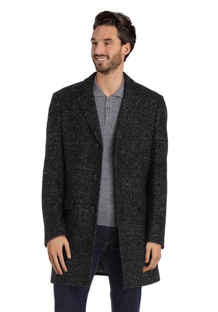 Manteau noir habillé moucheté