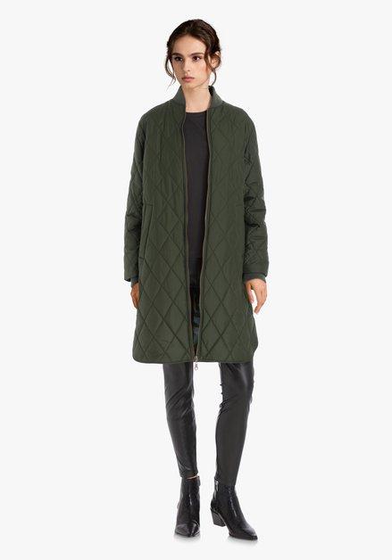 Manteau rembourré vert olive