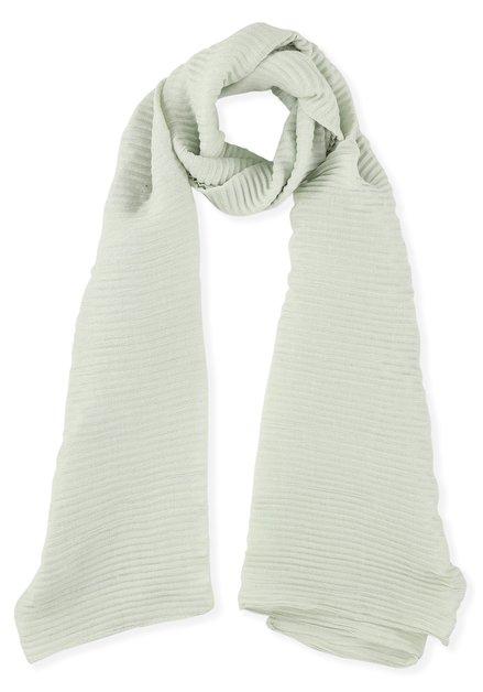 Mintgroene geribde sjaal