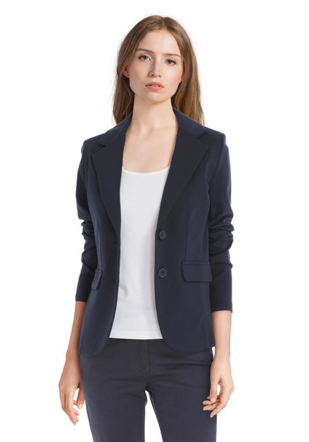 Navy blazer in stretch