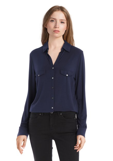 Navy blouse in modal