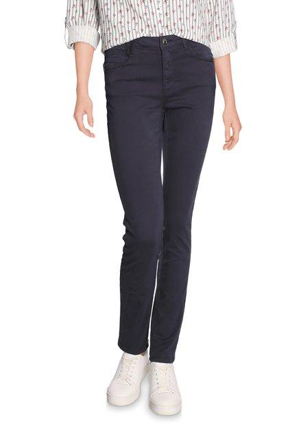 Navy broek in stretchkatoen - slim fit