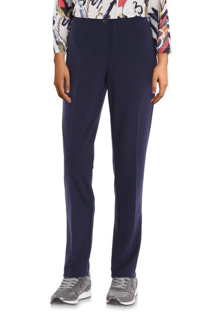 Navy broek in stretchstof - straight fit