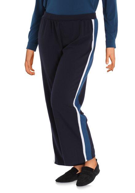 Navy broek met biesje - straight fit