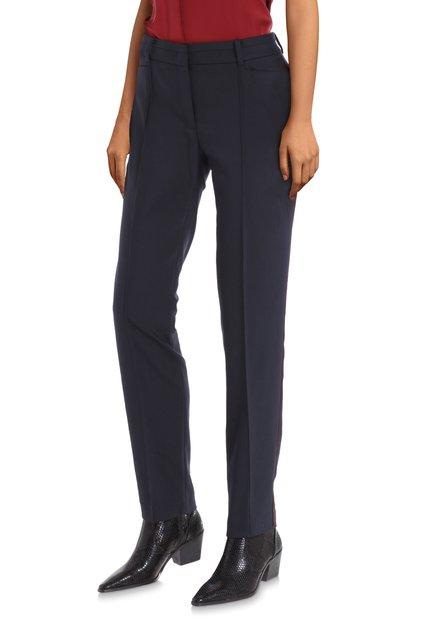 Navy broek met rode streep - slim fit