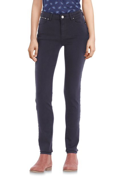 Navy broek met stretch – slim fit