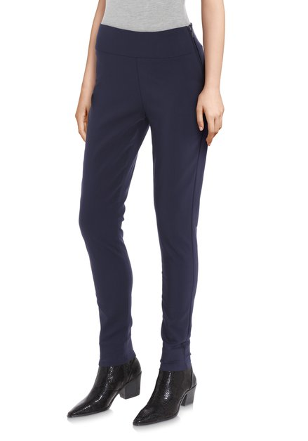 Navy broek met stretch - slim fit