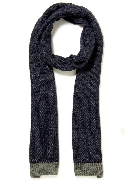 Navy gebreide sjaal
