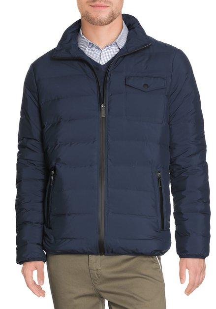 Navy gematelasseerde jas in dons