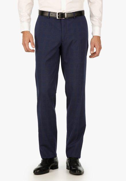 Navy geruite kostuumbroek – Ralph – regular fit