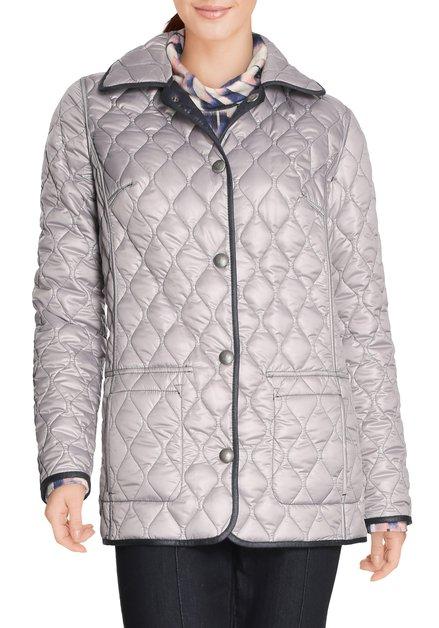 Navy/grijze omkeerbare gematelasseerde jas