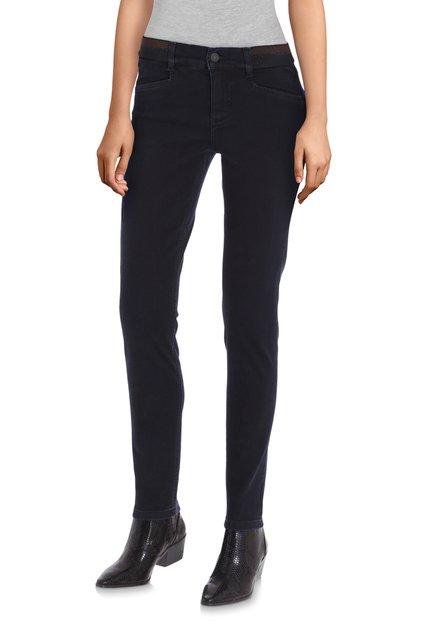Navy jeans met elastische taille - skinny fit