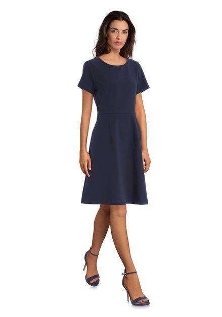Navy jurk met korte mouwen