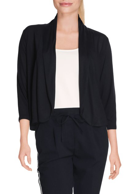 Navy open cardigan in viscose