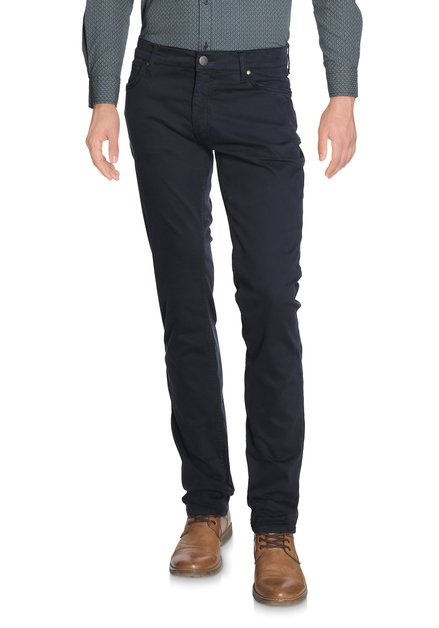 Navy pantalon in stretch - straight fit