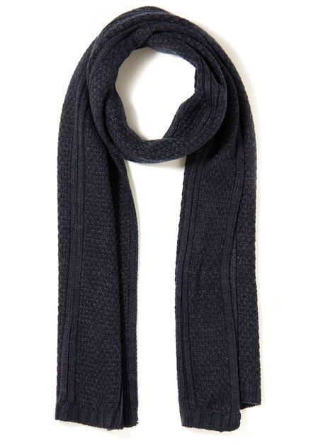 Navy sjaal in structuurstof