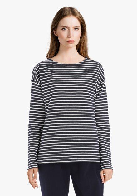 Navy-wit gestreept T-shirt