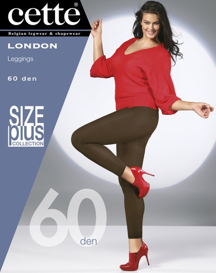 Nylon legging London black - 60 den