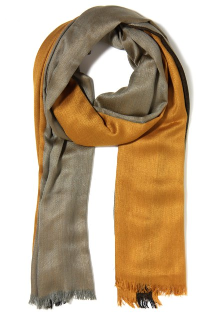 Okerkleurige sjaal in viscose