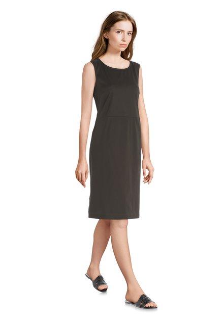 Olijfgroene jurk met knoopdetail