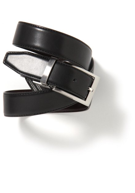 Omkeerbare riem in zwart/bruin