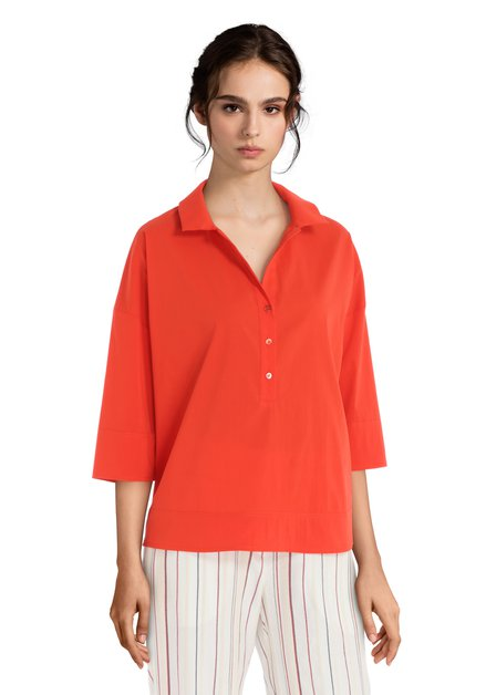 Oranje blouse met 3/4 mouwen