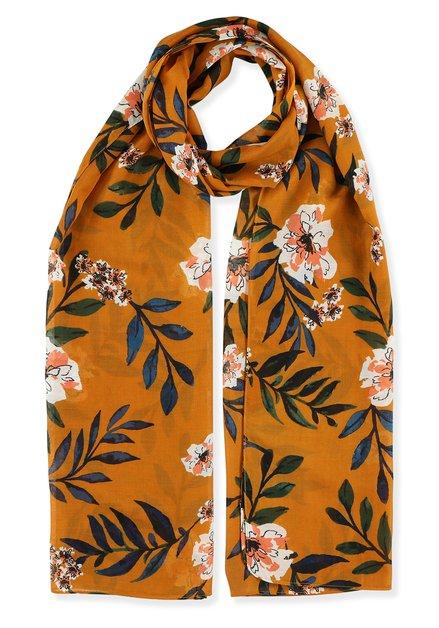 Oranje foulard met bloemen