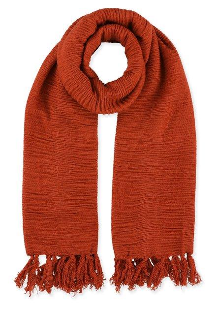 Oranje foulard met structuur