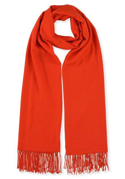 Oranjerode sjaal met kasjmierwol