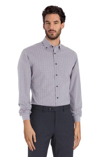 Paars geruit hemd - slender fit