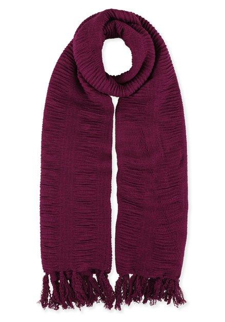 Paarse foulard met structuur