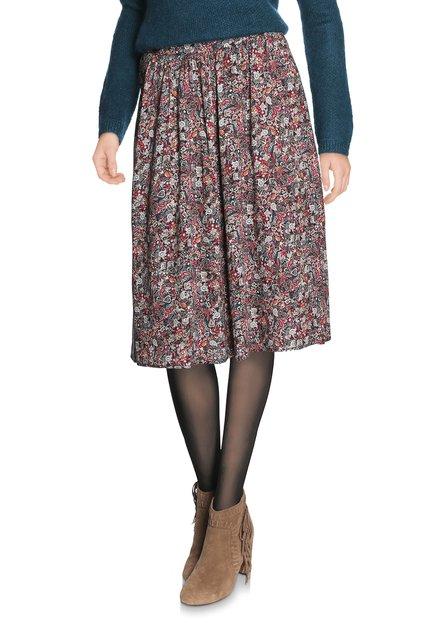 Paarse rok met kleine paisleyprint