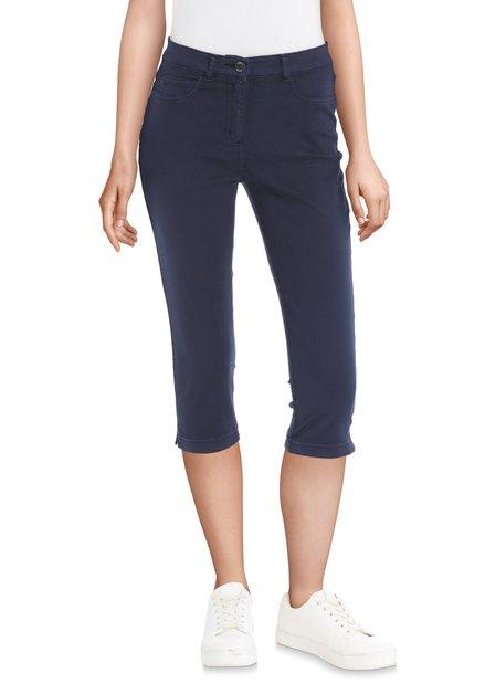 Pantalon 3/4 bleu foncé à strass