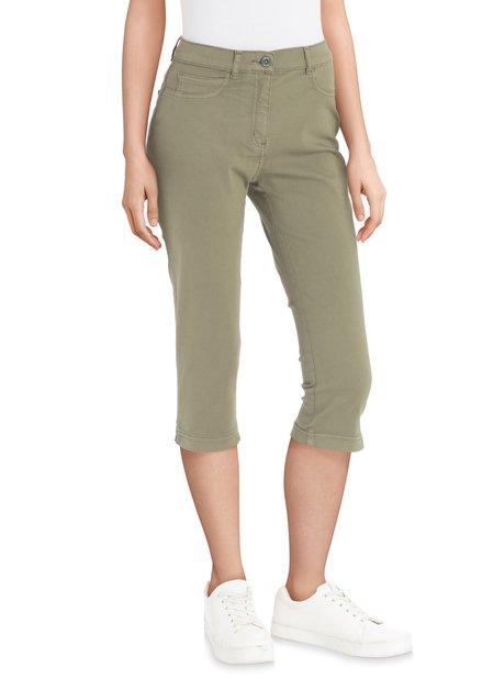 Pantalon 3/4 kaki à strass