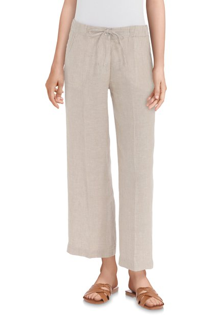 Pantalon 7/8 en lin beige